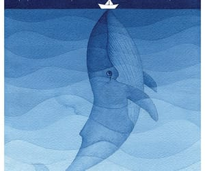drawing, whale, and cute image