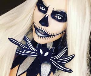 makeup, halloweentime, and halloweenmakeup image