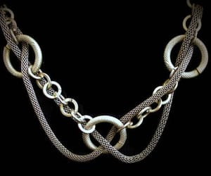 chain necklace, link necklace, and heidistreasurechest image