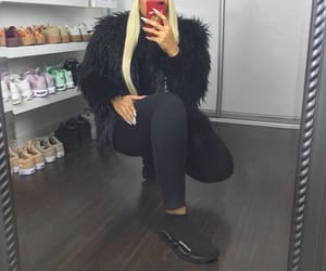 adidas, fur, and mirror image