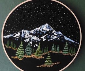 bordado, embroidery, and landscape image