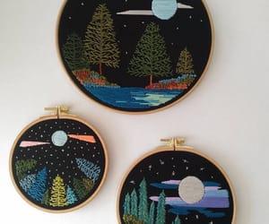 embroidery, landscape, and bordado image