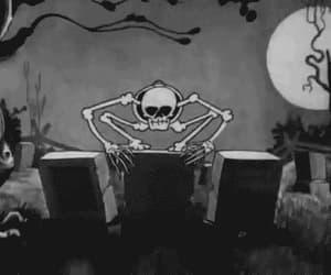 bones, dark, and skeleton image