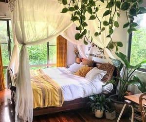 bedroom, plants, and bohemian image