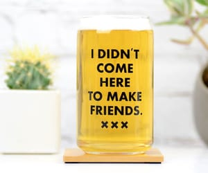 glass, beer glass, and gift for her image
