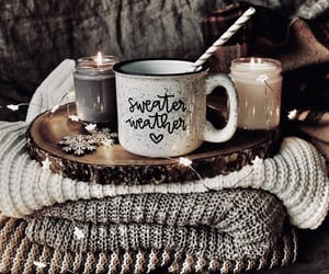 candle, sweater, and autumn image