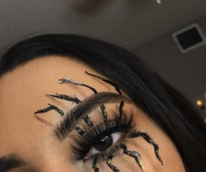 Halloween, makeup, and spider image
