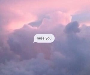 sky, miss you, and clouds image