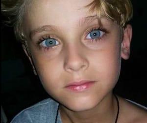eyes, boy, and girl image