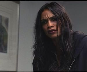 character, romance, and Rosario Dawson image