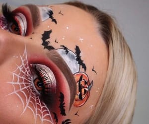 Halloween, halloween makeup, and creative image