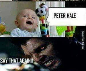 derek hale, alpha, and baby image