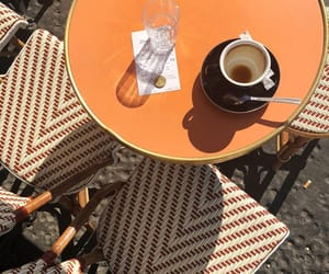 cafe, chairs, and coffee image