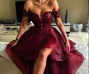 lace prom dresses, pretty prom dresses, and burgundy homecoming dress image