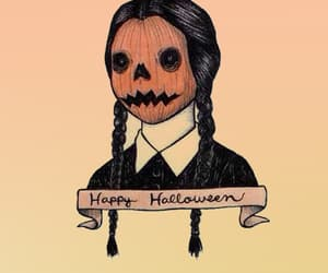Halloween, pumpkin, and wednesday image