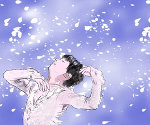 figure skating, illustration, and yuzuruhanyu image