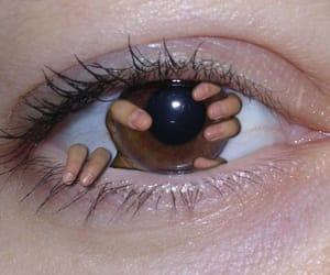 brown eye, eye, and edgy image