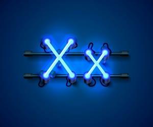 alphabet, art, and blue image