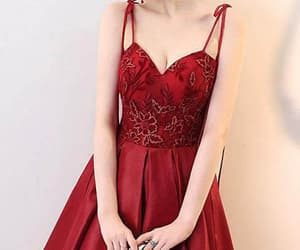 homecoming dress, short prom dresses, and v-neck homecoming dress image