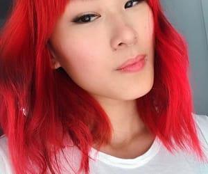 asian girl, red, and cabelo vermelho image