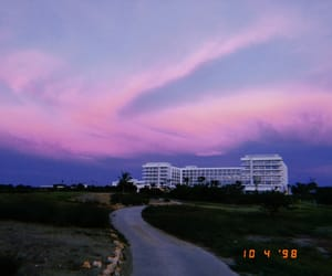 aesthetic, sky, and sunset image