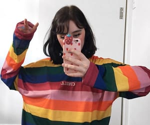 colored, mirror selfie, and cute girl image