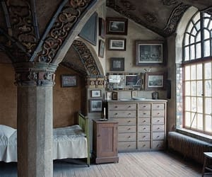 bedroom, room, and castle image