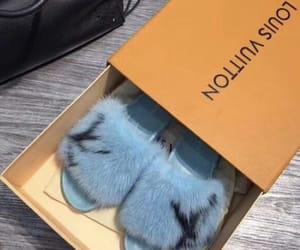 blue, Louis Vuitton, and slides image