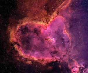 heart, stars, and space image