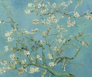 art, flowers, and van gogh image