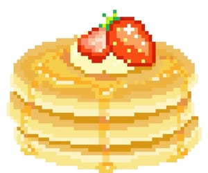 pancakes, pixel, and food image