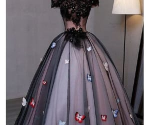 long prom dress, black prom dress, and plus size prom dress image