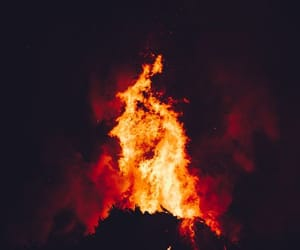bonfire, flames, and fire image
