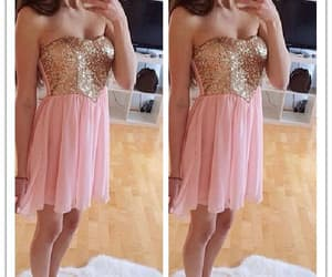 beautiful dress, pink dress, and dress 2018 image