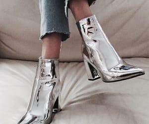 fashion, heels, and shiny image