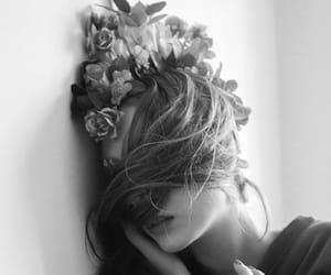 beauty, black & white photography, and fashion image