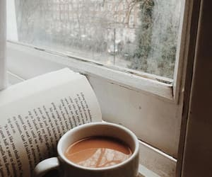 coffee, book, and fall image