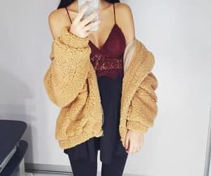 burgundy, fashion, and lengerie image