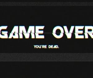 dead, game, and game over image