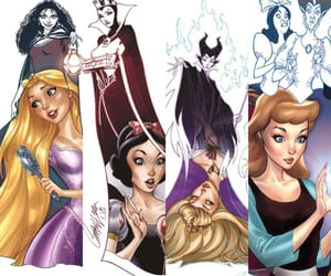 aurora, blanche neige, and evil queen image