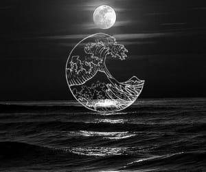beach, black, and night image