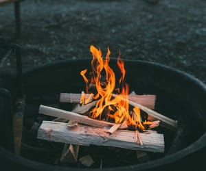 fire, mountains, and nature image