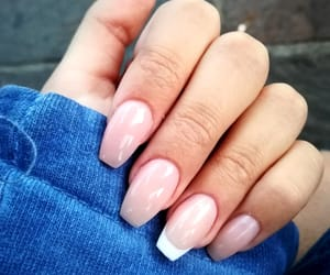 french, nails, and rosa image