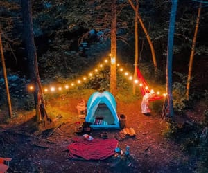 camp, camping, and happy image