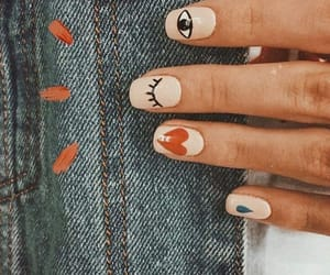 nails, manicure, and eye image