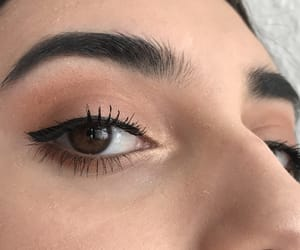 brown, lashes, and look image