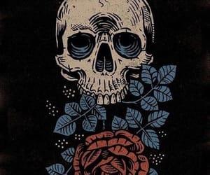 background, black, and bones image
