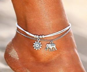 ankle, bohemian, and bracelets image