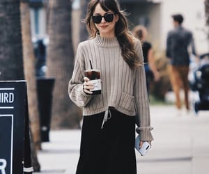 coffee, fall, and outfit image