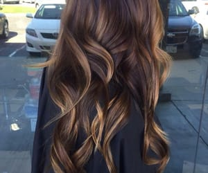 beauty, brown hair, and cheveux image